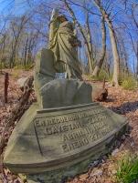 Tombstones Saint Michael's Cemetery, Bethlehem, PA, © 2016 Bob Hahn, Olympus OM-D OLYMPUS 8mm Lens at 8 mm, ISO 200 Exposure: 1/125@f/6.3