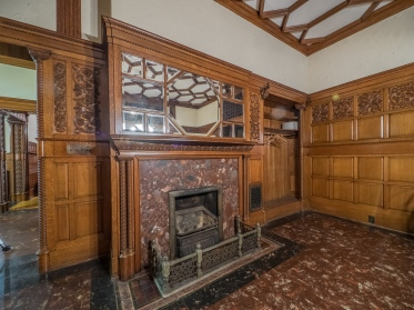 Wilbur Mansion Library Fireplace