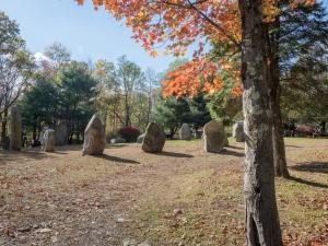 Stone Circle, Columcille Megalith Park, Bangor, Pennsylvania, United States, © 2017 Bob Hahn